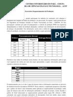 Lista de Exercícios - Sequenciamento da Produção