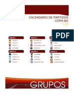 Calendario Copa MX Clausura 2013