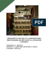 Procesadora de Frutas Ministerio Produccion Microempresa