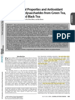 Physicochemical Properties and Antioxidant Capacity of 3 Polysaccharides from Green Tea, Oolong Tea, and