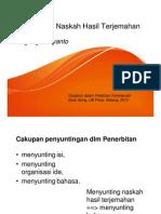 Menyunting naskah terjemahan - editing translation