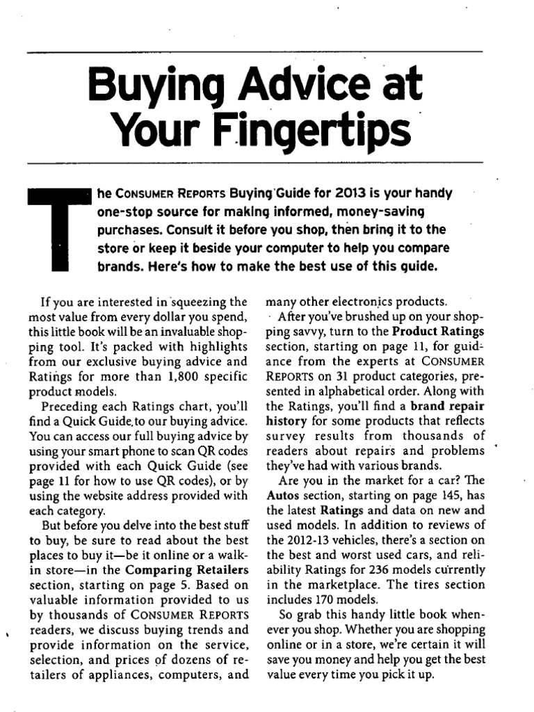 consumer reports buying guide 2013 kitchen stove laptop