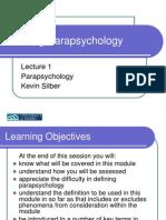 Defining Parapsychology