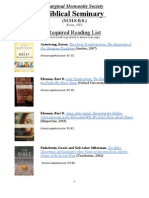 Marginal Mennonite Biblical Seminary - Reading List
