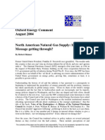 North American Natural Gas Supply - Is the Message Getting Through