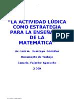 Actividad Lúdica en Matemática