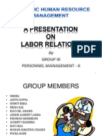 INDUSTRIAL RELATIONS - LABOR RELATIONS