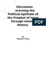 A Discussion Concerning the Political Aptitude of the Prophet of Islam Through Islamic History