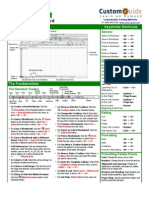 Excel 2011 Quick Refrence Card