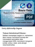Week 3 - Entity Relationship Diagram