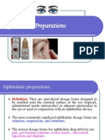 Opthalmic Preparations