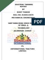 sonalika training report