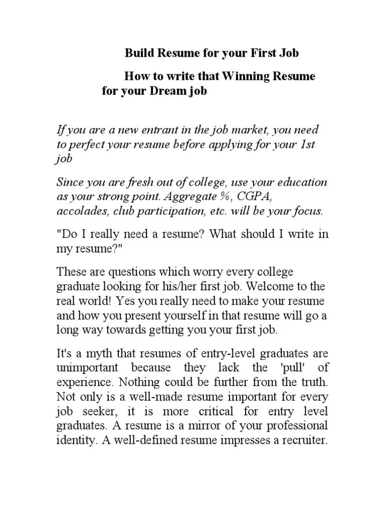 Guide For Resume Writting Compiler Resume