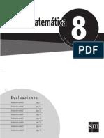 Evaluaciones Mat. 8
