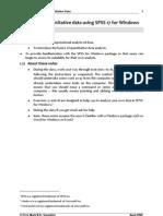 SPSS Manual
