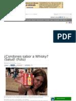 Condones Sabor a Whisky Salud Foto
