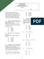 Ujian Selaras 2 Matematik