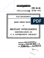 Basic Field Manual Military Intelligence, Identification of U.S. Government Aircraft