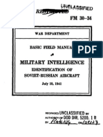 Basic Field Manual Military Intelligence, Identification of Soviet-Russian Aircraft