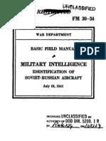 Basic Field Manual Military Intelligence, Identification of Soviet-Russian Aircraft