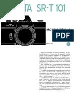 Notice Minolta SRT101