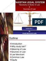 Lecture 1 Introduction to Law (Pakistan Legal System)