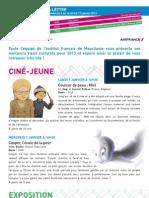La lettre de l'IFM du 6 au 11 janvier 2013
