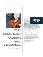 Voice Rehabilitation Following Total Laryngectomy