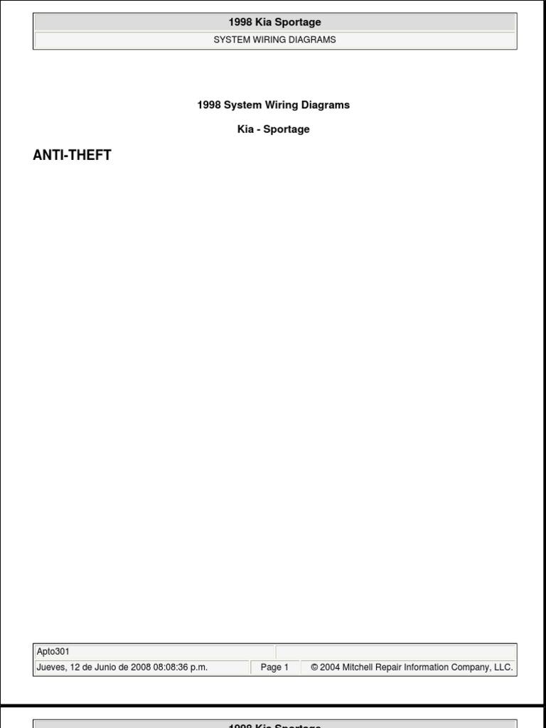 1998 Kia Sportage Wireing Diagrams Trusted Schematic Wiring Diagram Rh Pt Scribd Com Electrical Engine