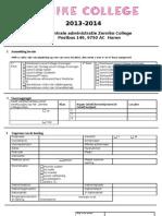 aanmeldingsformulier 2013 - 2014