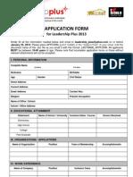118203599 Leadership Plus Application Form