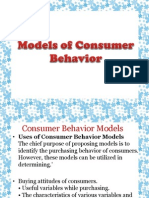 Economic  Model of Consumer behavior