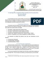 Message du Pape Tawadros II à l'occasion de la Nativité (Français)