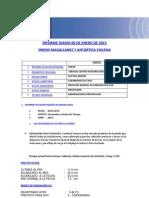 Informe diario ONEMI MAGALLANES 06.01.2013