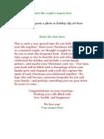 Letter Insert for Christmas Album Wedding Gift by Harvard Homemaker