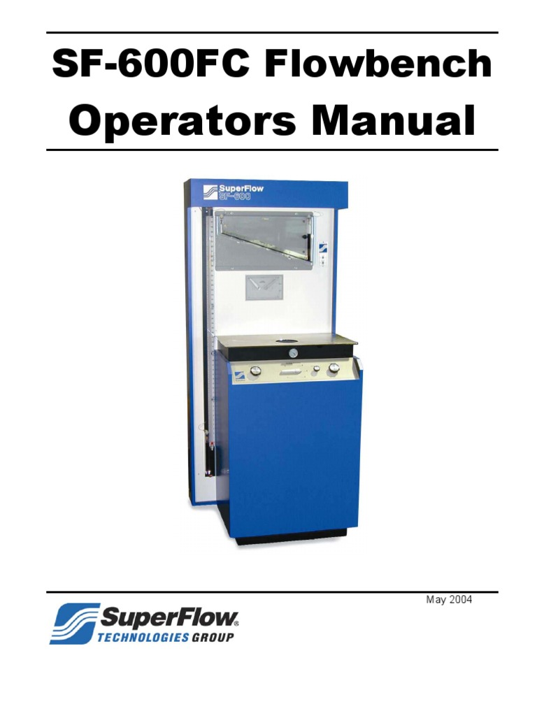 SF600 Operation Manual 2009 Valve Usb