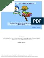 Actualización normas microbiológicas enero 2012