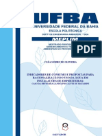 INDICADORES DE CONSUMO E PROPOSTAS PARA RACIONALIZAÇÃO DO USO DA ÁGUA EM INSTALAÇÕES DE EMPREITEIRAS - MESTRADO