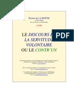 Le Discours de la servitude volontaire-Étienne de La Boétie