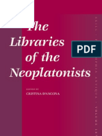 D'Ancona - The Libraries of the Neoplatonists