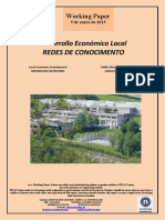 Desarrollo Económico Local. REDES DE CONOCIMIENTO (Es) Local Economic Development. KNOWLEDGE NETWORKS (Es) Tokiko Ekonomi Garapena. EZAGUTZA SAREAK (Es)