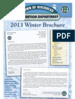 Riverhead Recreation Department Winter 2013 brochure