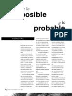 De Lo Posible y Lo Probable
