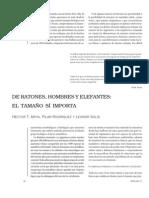 DE RATONES, HOMBRES Y ELEFANTES,EL TAMAÑO SI IMPORTA