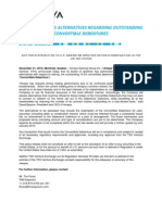 2012-12-21 Amaya to assess alternatives regarding outstanding convertible debentures