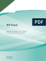 Standard de auditare pentru calitatea şi siguranţa produselor alimentare
