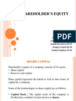 shareholder equity