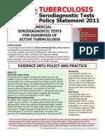 TB Sero Test Policy 2011