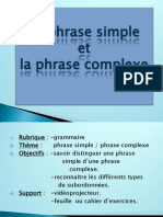 phrase simple et complexe