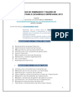 Portafolio de Seminarios  Job Management Vsion 2013